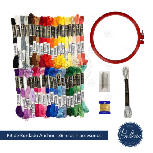 kit bordado casa beltran 36 colores hilos bordar anchor mouline set bordado bastidor