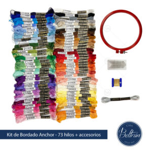 kit bordado casa beltran 73 colores hilos anchor mouline set bordado bastidor